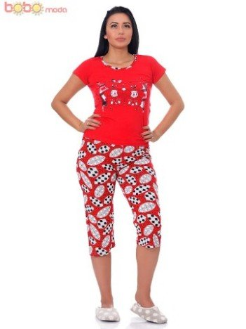 Pijama dama Baby Bears red